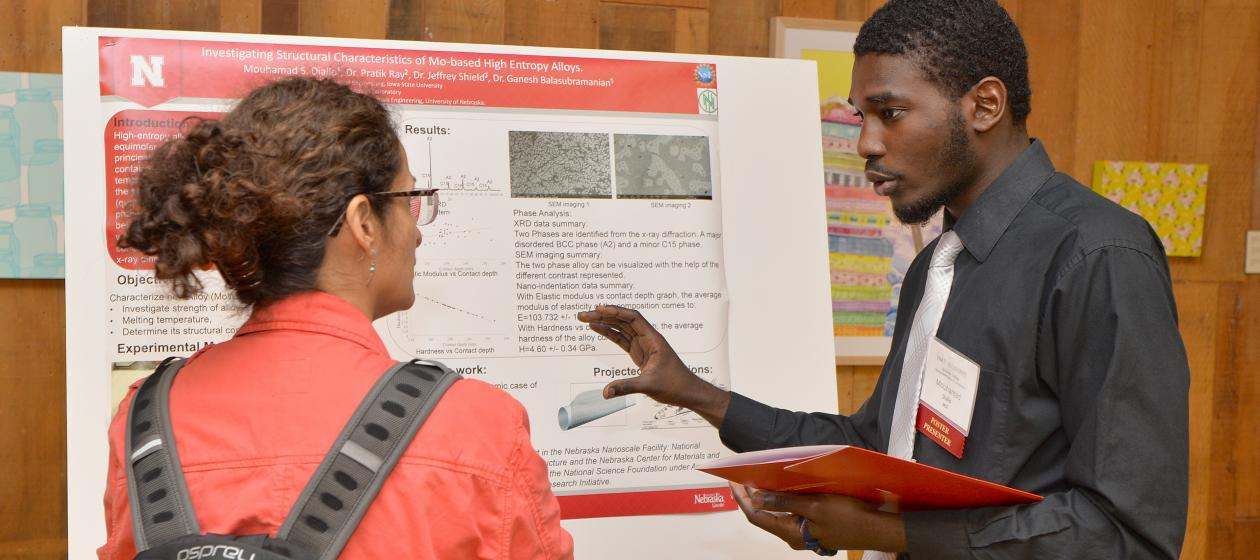 Mouhamad Diallo, Poster Presenter and McNair Scholar (2017 Symposium)